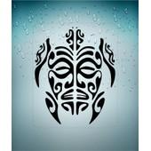 Autocollant Sticker Macbook Laptop Voiture Moto Tortue Tribal Deco Vinyle