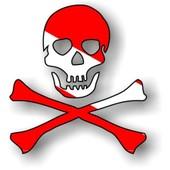 Autocollant Sticker Macbook Laptop Voiture Moto Club Plongee Pirate Scuba Dive