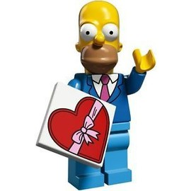 Mini Figurine Homer En Costume-Cravate - Lego Minifigures 71009 Les Simpsons S�rie 2