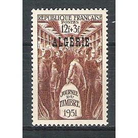 algérie, 1951, journée du timbre, n°287, neuf.