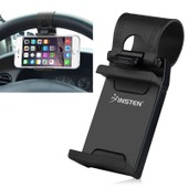 Insten� Support Fixation Au Volant De Voiture Universel Pour T�l�phone Portable Iphone 4s/5/5s/5c/6 Htc One M7/M8 Samsung Galaxy S4/S5/S6/S6 Edge Lg G3 Nokia Lumia 928/1020, Noir - Largeur: 5 - 7,5 Cm