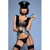 Costume Sexy Polici�re, 5 Pi�ces, Police Corset