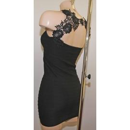 Micro Robe Courte Dos Dentelle Skirt Femme Moulante Fourreau Tube Ultra Sexy !! Taille S/M(36-38) L/Xl(40-42-)-Extensible -Longueur 74cm-92%Polyamide 8%Elasthanne ! Expedition En 24/48hrs