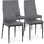 Intensedeco Lot De 4 Chaises Cross Gris Chaises Et Tabourets