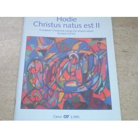 Hodie Christus natus est - Partition Chants de Noël pour Chorale