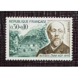 FRANCE N° 1475 neuf sans charnière de 1966 - 30c+10c « Hippolyte Taine, philosophe »
