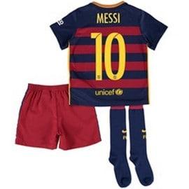 Ensemble Complet Fc Barcelone Saison 2015/2016 Flocage Messi Numero 10