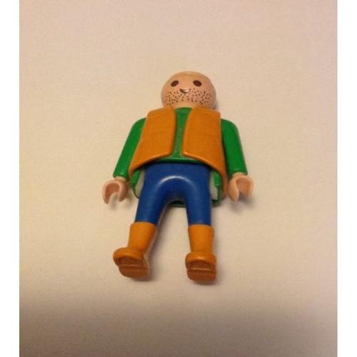 Personnage playmobil en veste marron et verte caa4c365a76