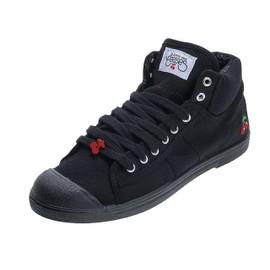 Chaussures Mid Toile Le Temps Des Cerises Basic 03 Black Mono Lady Noir 20871