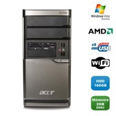 PC ACER Veriton M420 Tour Athlon X2 4850B 2.5Ghz 2Go DDR2 160Go WIFI Win Vista