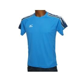 Maillot De Running Mizuno Team T-Shirt Mc Bleu Bleu 43080