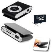 Lecteur MP3 Mini Baladeur NOIR + Carte SD 4 Gb/Go - Kowi