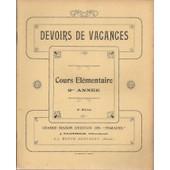 Devoirs De Vacances Cours �l�mentaire 2e Ann�e de j. plothier