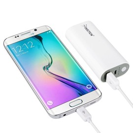 INSTEN® Batterie de Secours Externe 5200mAh Power Bank Pour Smartphone iPhone 4/5/5C/5S/6/6 Plus iPad Air/Mini iPod Touch, Samsung Galaxy S4/S5/S6/S6 Edge, Sony Xperia, LG, HTC, Motorola, Lumia, Nexus