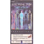 Jean Michel Jarre Ticket Concert Europe In Concert Chronologie Vitrolles 5/09/93