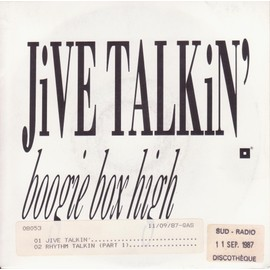"7"" PS  jive talkin' / Rhythm talkin (part 1)"