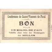 Carte Conf�rence De Saint-Vincent De Paul, Des Milles, Bon Pour Un Kiloggramme De Pain