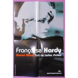 AFFICHE 60X40 FRANçOISE HARDY TANT DE BELLES CHOSES BON ETAT & TRES RARE