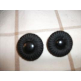 Boucles D'oreilles Noire A Clip