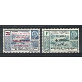 Wallis & Futuna, 1944, Timbres De Nouvelle-Cal�donie Surcharg�s, N�131 + 132, Neufs.