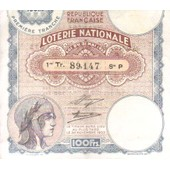 Ticket De 1933 Loterie Nationale Premiere Tranche