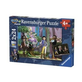 Puzzle 2 X 24 Pi�ces : Super 4 En Action Playmobil