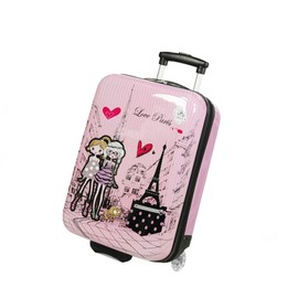 Valise Enfant/Fille Rose Love Paris 2031 Abs 50cm