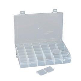 Bo�te De Rangement / � Bijoux / � Outils, Ajustable, � Usages Multiples. En Plastique. 36 Compartiments, Transparente