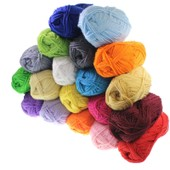 Lot De 20 Pelotes De Laine De 25g En Acrylique Pour Tricot Double - Assortiments De Couleurs