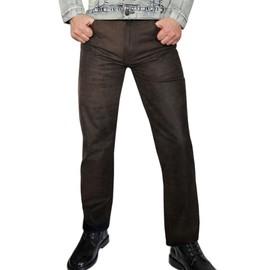 Fuente - Fire - Pantalon En Cuir Su�de Pour Homme