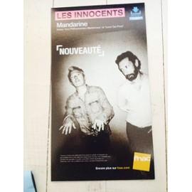 "Les innocents plv ""Mandarine"" FNAC PETIT FORMAT RIGIDE 2015"