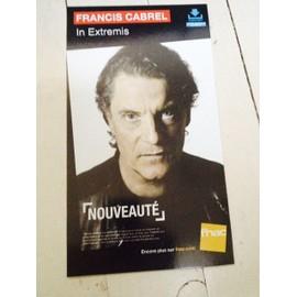 """francis CABREL """" IN EXTREMIS"""" PLV FNAC PETIT FORMAT CARTON RIGIDE 2015"""