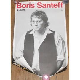 rare affiche 40x60cm chanteur francais BORIS SANTEFF disques philips