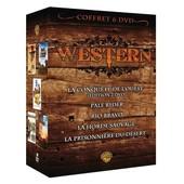 Coffret Western - La Conqu�te De L'ouest + Pale Rider + Rio Bravo + La Horde Sauvage + La Prisonni�re Du D�sert - Pack de John Ford