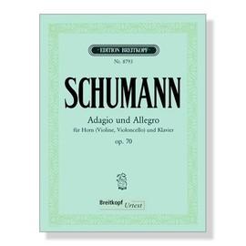adagio und allegro für horn (violine, violoncello) und klavier opus 70 - nr 8793