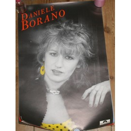 rare affiche 40x60cm chanteuse francaise DANIELE BORANO disques polydor