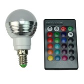T�l�commande + Led Lampe Ampoule E14 Rgb 85v-265v 3w Aluminium 200-240 Lumens