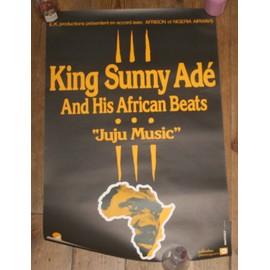 rare affiche 40x60cm chanteur africain nigérien de musique juju d'origine yorubas KING SUNNY ABE and his african beats