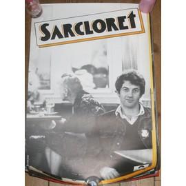 rare affiche 40x60cm chanteur suisse SARCLORET ( SARCLO ) disques polydor