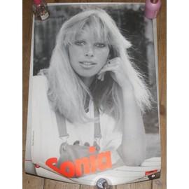 rare affiche 40x60cm top model et chanteuse francaise SONIA disques polydor