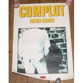 rare affiche 40x60cm pianiste francais FATON CAHEN ( magma zao complot ) disques polydor