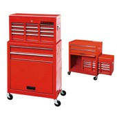 Servante/Caisse � Outils D'atelier 9 Tiroirs Tools Chest Chariot Rouge