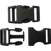 10 Fermoirs Clips Plastique (Id�al Cr�acord) 4cm - Noir - Cr�acord