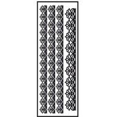 Transfert Thermocollant Velours - Ruban 1 Noir - 10x30cm - Ki-Sign