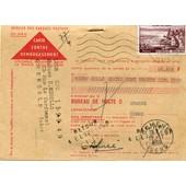 Mandat -Carte 1418- Timbr�es -Retour A L'envoyeur- Voir Scan
