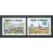 Wallis & Futuna, 1979, Poste A�rienne, Dessertes A�riennes Et Maritimes Des �les, N�90 + 91, Neufs.