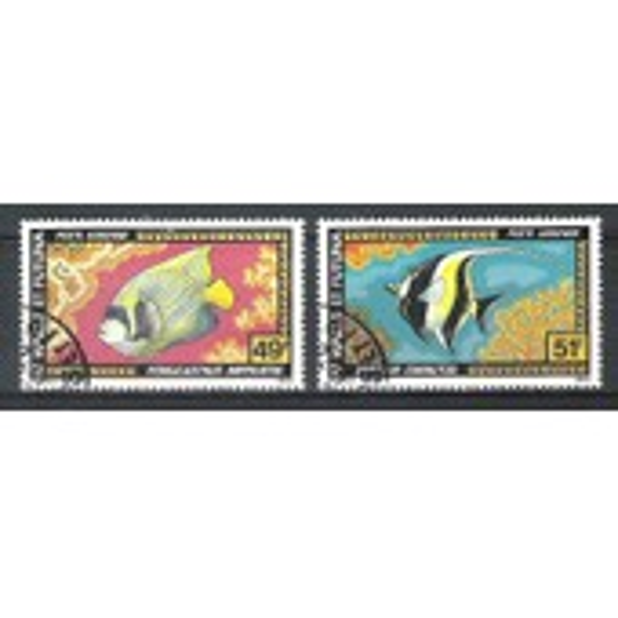 Wallis & Futuna, 1978, Poste A�rienne, Faune (Poissons), N�78 + 79, Oblit�r�s.