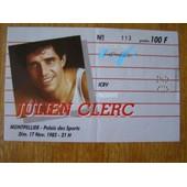 Julien Clerc Billet Concert Palais Des Sports 85