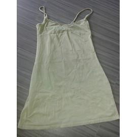 Robe Courte Vert Kaki Coton H&m T34