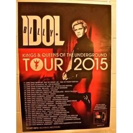 Affiche billy idol tour 2015